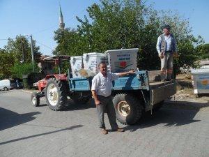 Sultanhisar'a 165 adet çöp konteyneri hibe edildi