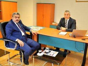Haluk Alıcık, Kayhan Toplu'yu makamında ziyaret etti