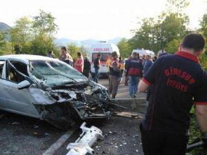 Giresun'da Kaza: 5 Yaralı