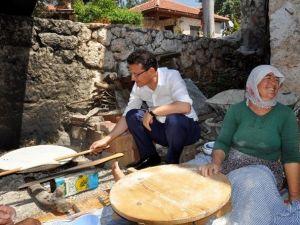 AK Parti Adayı Uslu, Köylerde Evlere Misafir Oldu
