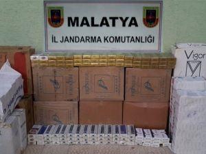 Malatya'da Jandarmadan Kaçak Sigara Operasyonu