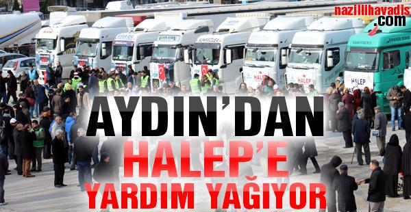 Aydın'da Halep için 20 günde 15 tır yardım toplandı