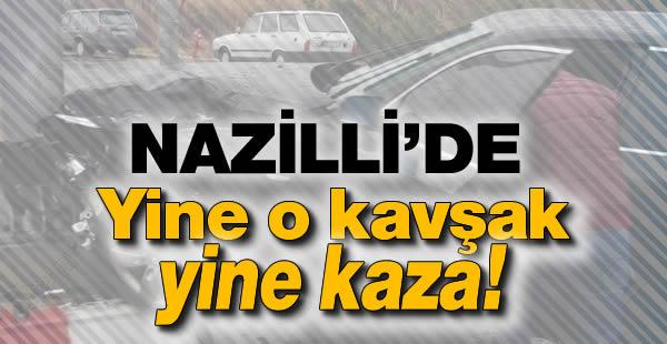 Nazilli Uğur Derin Dondurucu Kavşağında Trafik Kazası!