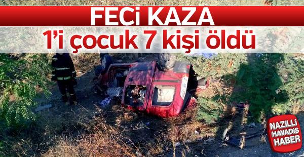 Feci kaza; 1'i çocuk 7 ölü