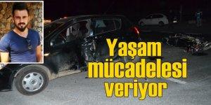 Nazilli'de zincirleme trafik kazası; Yaşam savaşı veriyor