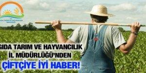 Çiftçiye iyi haber