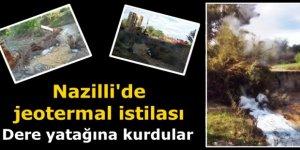 Nazilli'de, jeotermal istilası
