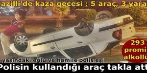 Alkollü polis Nazilli'de kaza yaptı