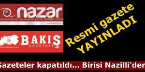 Nazilli'de gazete kapatıldı