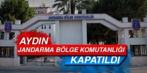 Jandarma Bölge komutanlığı kapatıldı