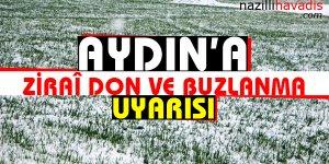 Aydın'a Zirai Don ve Buzlanma Uyarısı