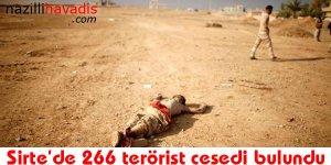 Sirte'de 266 terörist cesedi bulundu