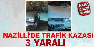 Nazilli'de trafik kazası...