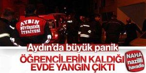 Aydın'da çıkan yangın paniğe yol açtı