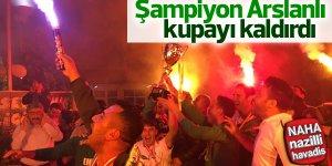 1. Amatör kümeye yükselen Arslanlıspor kupayı kaldırdı