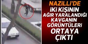 Nazilli'de yol verme kavgasının görüntüleri ortaya çıktı