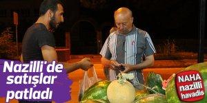 Nazilli'de karpuz satışları patladı