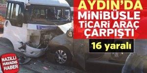 Aydın'da korkunç kaza! 16 yaralı var