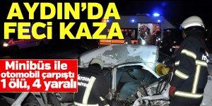 Aydın'da feci kaza: 1ölü, 4 yaralı