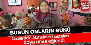 Alzheimer hastaları doya doya eğlendi