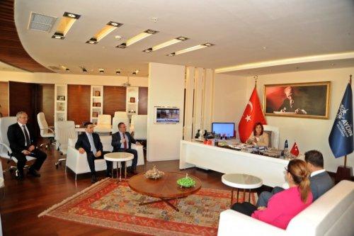 Aydın Barosu, Başkan Çerçioğlu'nu Ziyaret Etti